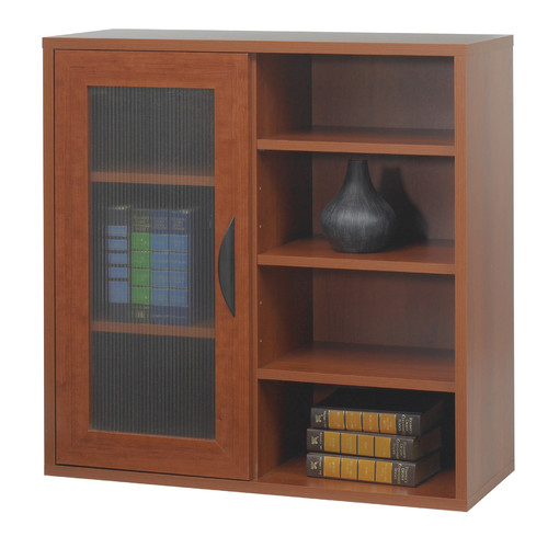Safco Products Company Safco  Apres Modular Storage Single Door/Open Shelve 30'' Standard Bookcase