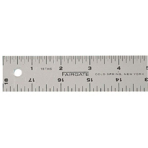 Fairgate Cork-Back Aluminum Ruler (Set of 2)