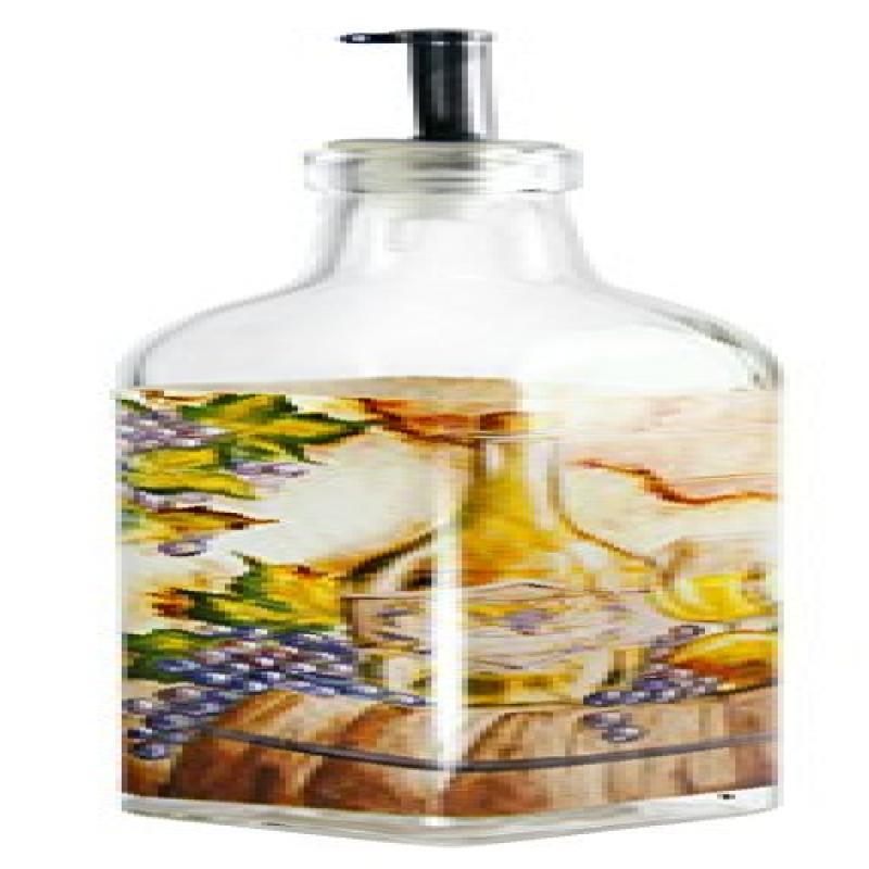 Grant Howard Wine Barrel Oil & Vinegar Glass Cruet, 16 oz, Multicolored
