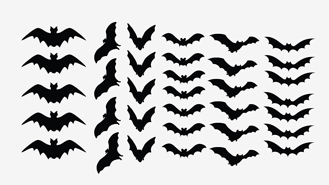 Bats Vinyl Die Cut Decal,halloween,october,funny,fall,laptop,craft