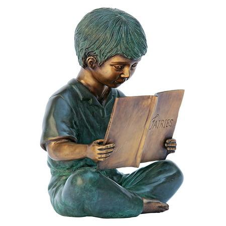 Design Toscano Story Book Boy Bronze Garden Statue (Storybook Decorations)