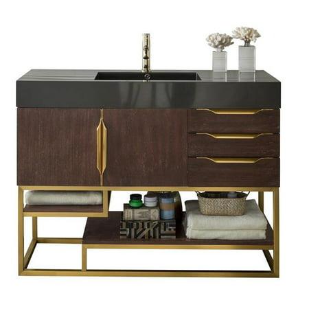 James Martin Furniture 388 V48 CFO RG DGG 48 in Columbia Coffee Oak Ra