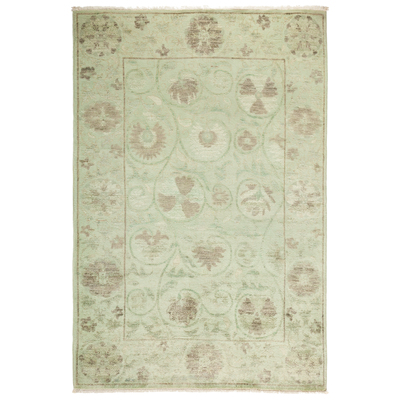 Solo Rugs One-of-a-kind Suzani Hand-knotted Area Rug 4' x 6'