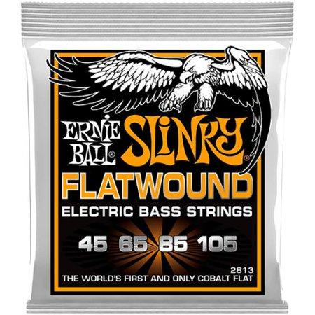 Ernie Ball 2813 Hybrid Slinky Flatwound Electric Bass Guitar 4-String Set,