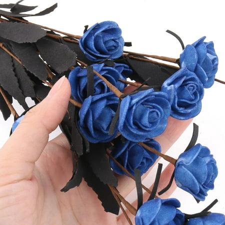 Wedding Garden Foam DIY Craft Emulational Artificial Flower Bouquet Decor Blue - image 2 of 4