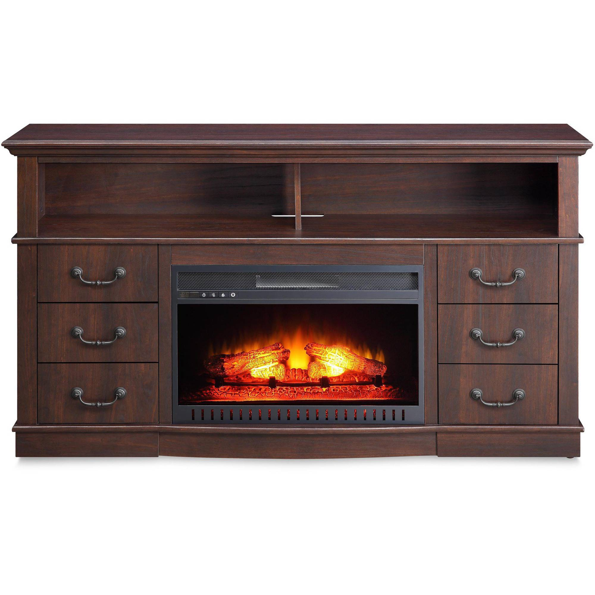 Better home and console fireplace media gardens for tv 39 s up to 70 for Better homes and gardens fireplace tv stand
