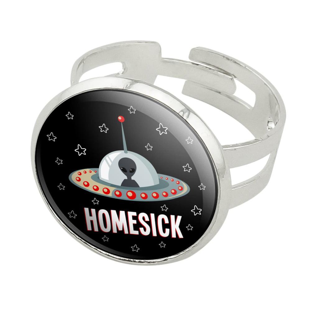 Homesick UFO Alien Funny Men/'s Novelty T-Shirt
