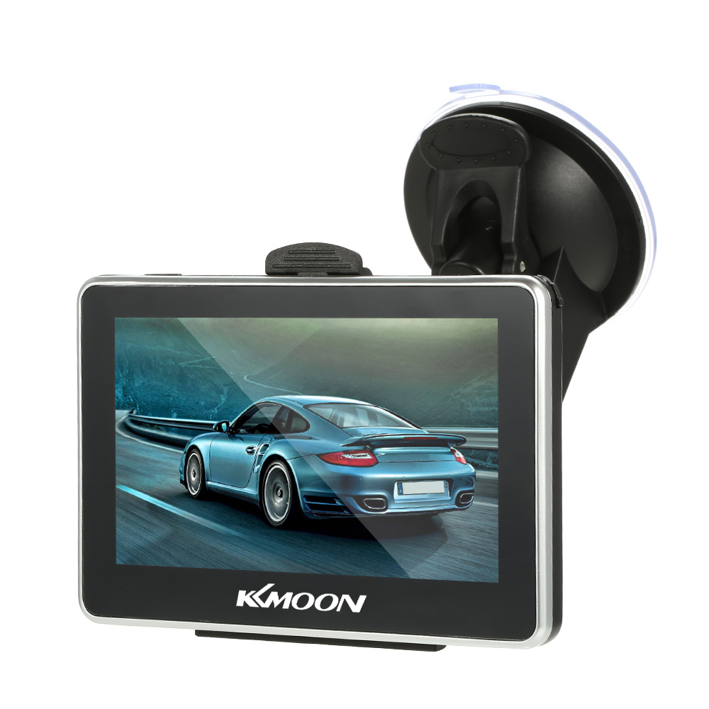 KKmoon 4.3 inch HD Touch Screen Car Portable GPS Navigation 128M 8GB FM Video Player with Back Support +Free Map