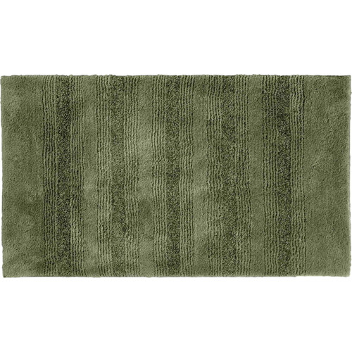 Essence Nylon Washable Bathroom Rug Runner In Deep Fern