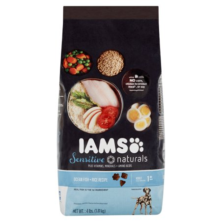 Iams Sensitive Naturals Ocean Fish   Rice Recipe Premium Dog Nutrition Adult 1  Years 4Lbs