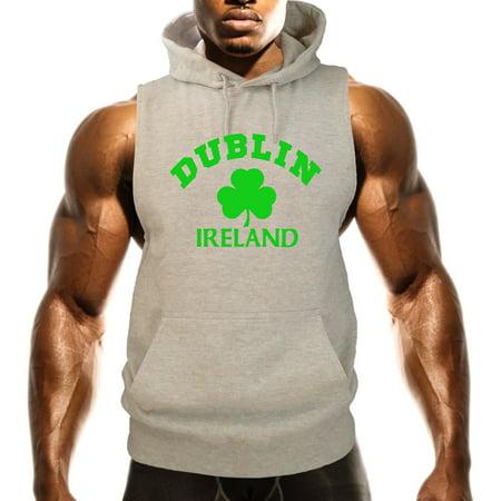 Men's Dublin Ireland V507 Gray Fleece Vest Hoodie Large Gray
