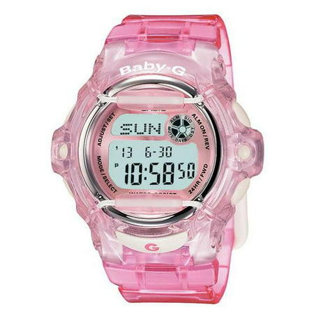 Women's Pink Baby-G Watch Jelly Whale Digital - Pink Rubber Strap - BG169R-4