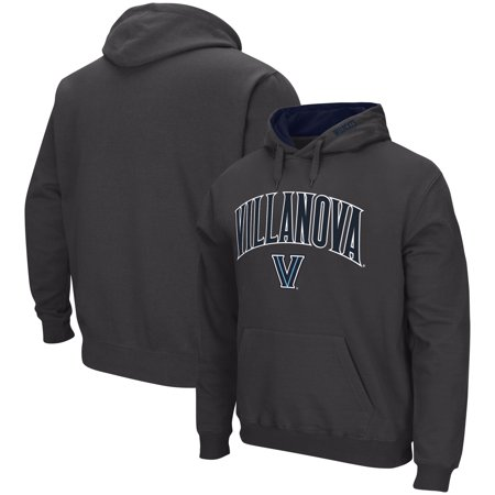 Villanova Wildcats Colosseum Arch & Logo Tackle Twill Pullover Hoodie - Charcoal