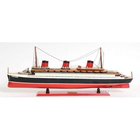 Model Ship Normandie Boats Sailing Painted Tacks Wooden Western Red Cedar OM-59