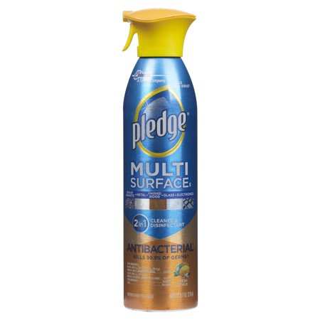 - (2 Pack) Pledge Multi Surface Antibacterial Everyday Cleaner 9.7 Ounces.