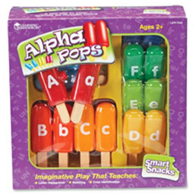 Learning Resources LRNLER7345 Smart Snacks Alpha Pops Skill Learning, 13 Per Set