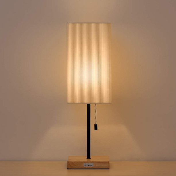 Nightstand Lamps Square Wooden Base, Square Wood Table Lamp Base