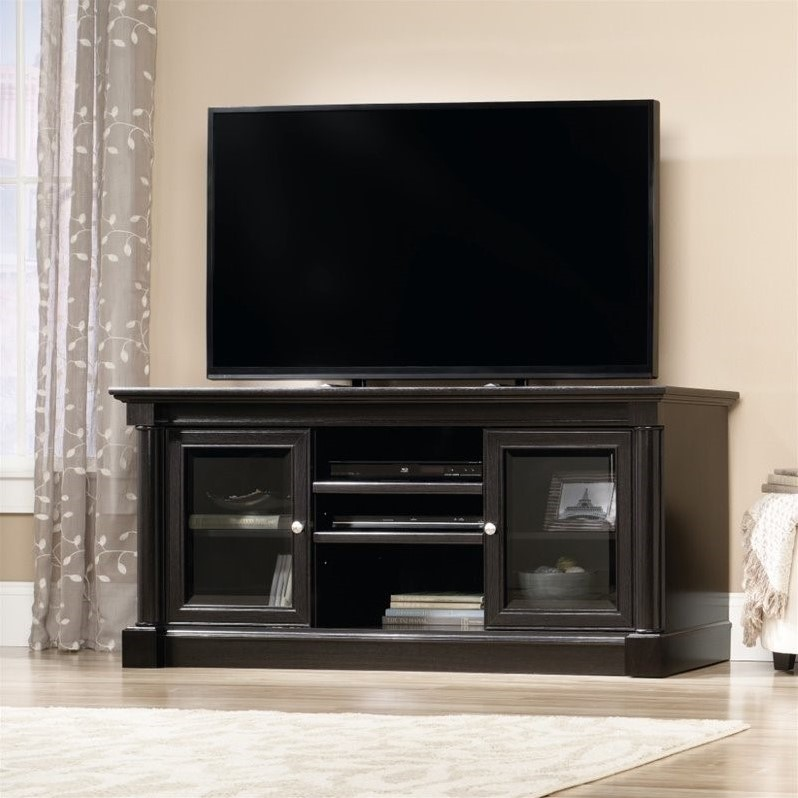 Sauder Palladia TV Stand in Wind Oak