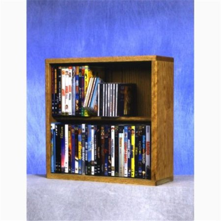 Wood Shed 215-18 Combo Solid Oak 2 Row Dowel CD-DVD Cabinet Tower