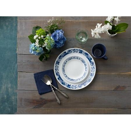 Corelle Livingware True Blue Dinnerware Set, 4 Piece