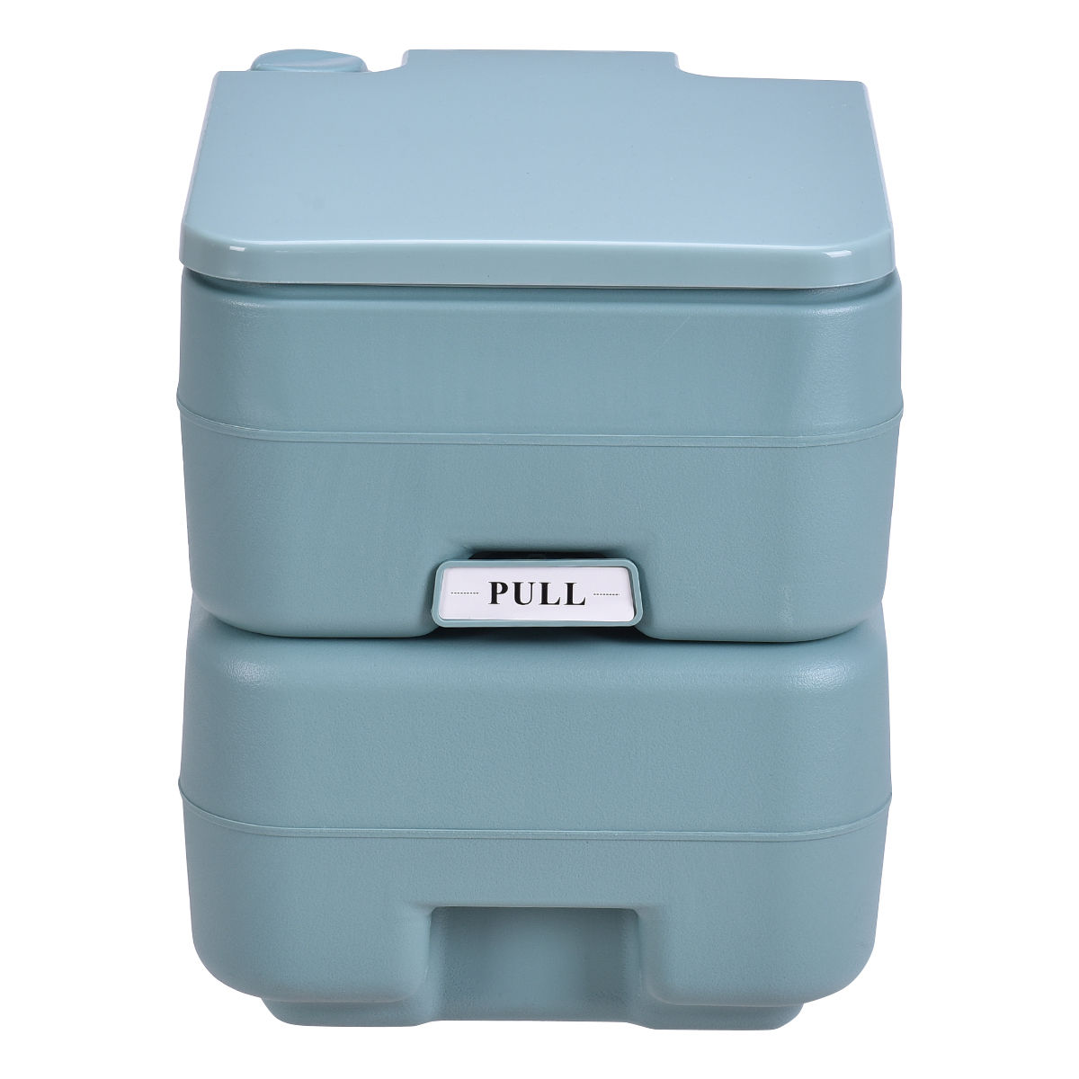 gymax outdoor camping hiking portable toilet flush potty
