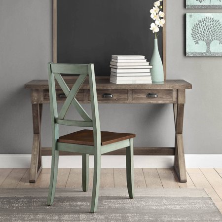 Better Homes & Gardens Maddox Crossing Dining Chairs, Set of 2, Antique Sage Antique Spindle Back Chairs