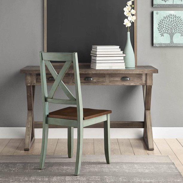 Better Homes & Gardens Maddox Crossing Dining Chairs, Set of 2, Antique Sage