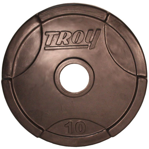 Troy Barbell 10 lb. Interlocking Rubber Grip Plate