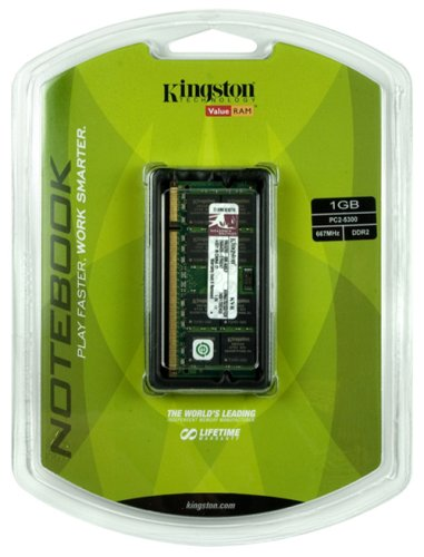 1GB PC2-5300 667MHz DDR2 SDRAM Notebook Memory KVR667D2SO/1GR, DDR2 is the next-generation evolution of DDR memory technology. DDR2 memory features faster speeds,.., By Kingston