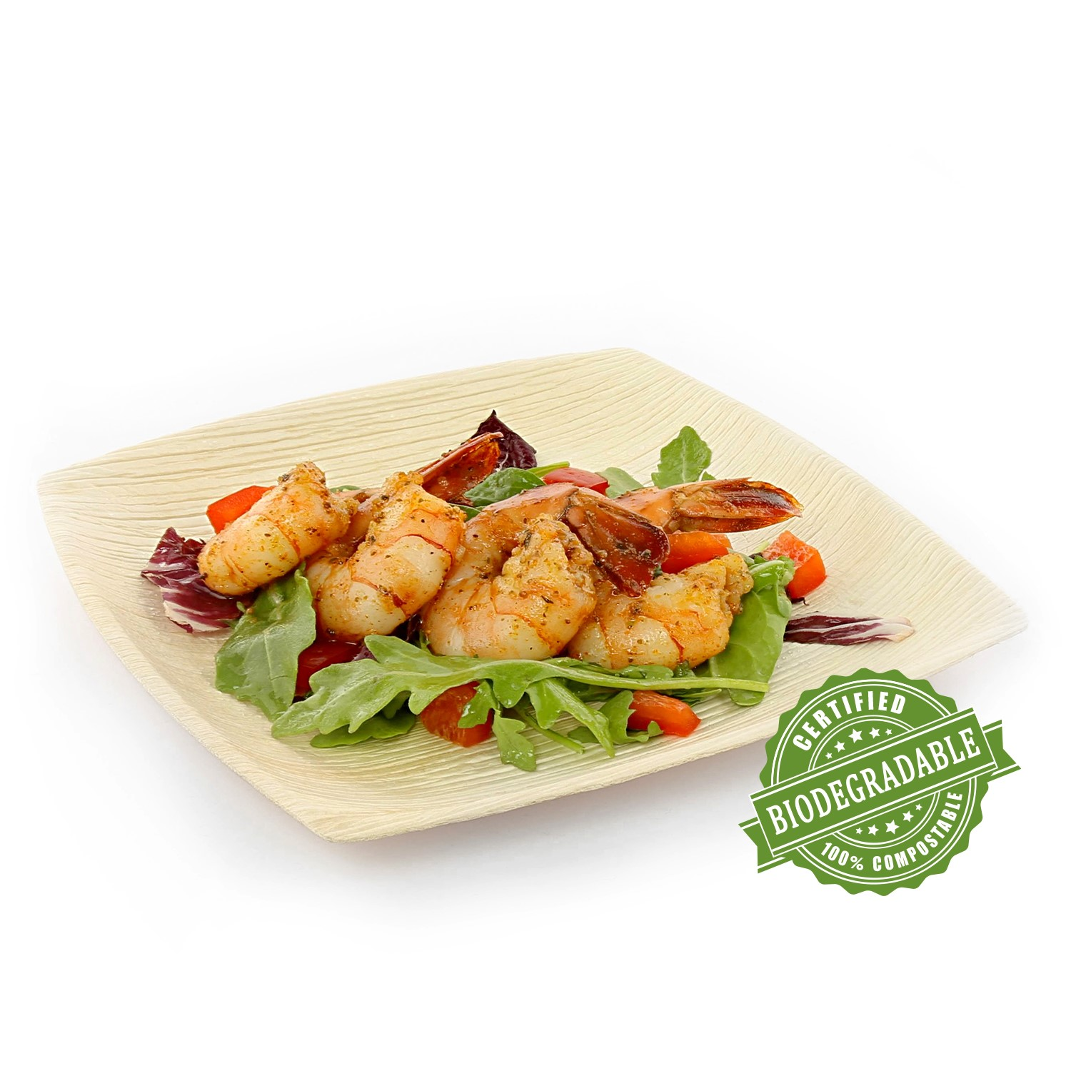 "CiboWares Premium 8"" Square Natural Palm Leaf Plate, Eco-Friendly, 25 Ct"