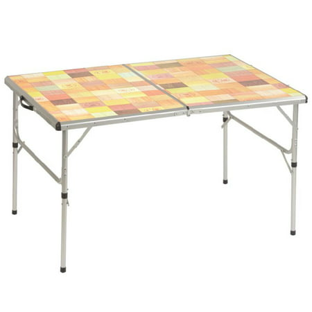 Coleman Camping Tables - COLEMAN Portable PackAway Outdoor Camping Picnic Tailgating Folding Mosaic Table