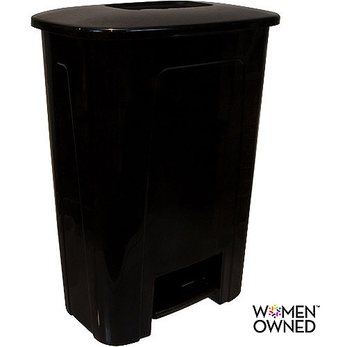 Hefty Step-On 10-Gallon Trash Can, Black