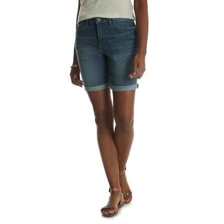Rise Cuffed Short - Riders by Lee Women's Denim Cuffed Curvy Bermuda Short