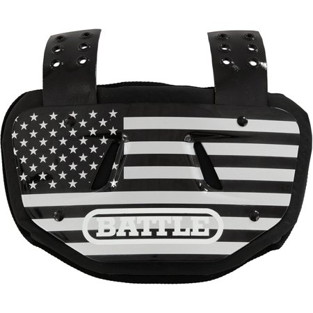 Battle Sports Science American Flag Chrome Protective Football Back Plate - Cheap Football Back Plate