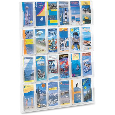 10 Pocket Clear Book Display (Safco, SAF5601CL, 24-Pamphlet Display Rack, 1 Each,)