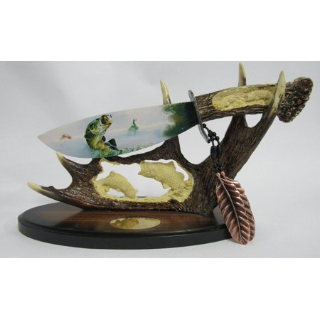 Wildlife Knife With Display Stand Bass