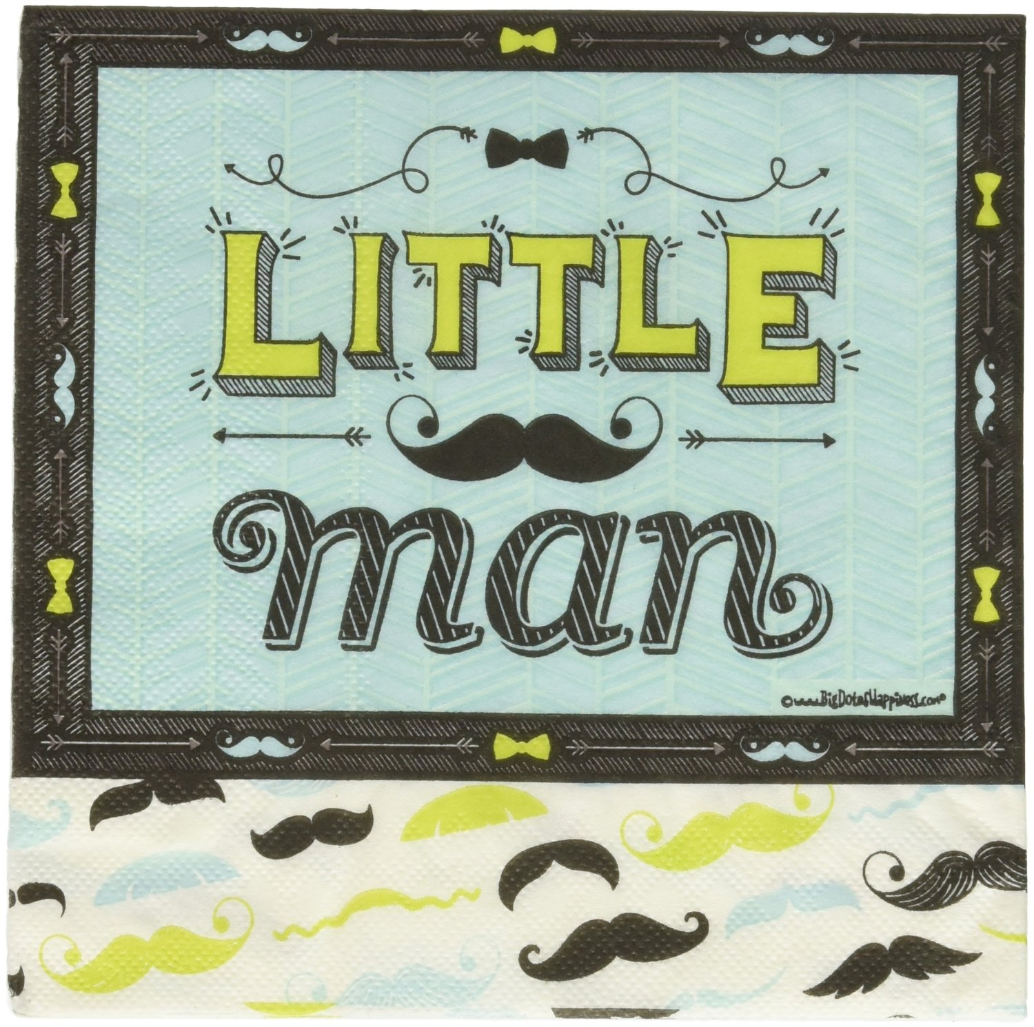 Dashing Little Man Mustache - Party Luncheon Napkin (16 count)