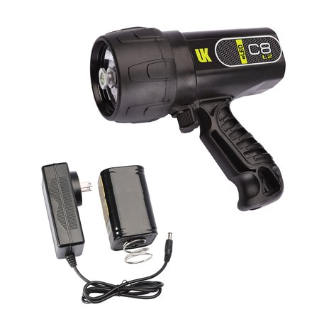 UK C8 eLED (L2) Rechargeable w/ NiMH Battery/Charger, Box Dive Light (Uk Dive Flashlight)