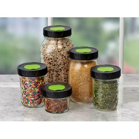 8 Regular Mouth Ball Mason Canning Jar Shaker Herb Spice Caps Lids