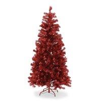 Belham Living 6ft Pre-Lit Red Artificial Christmas Tree