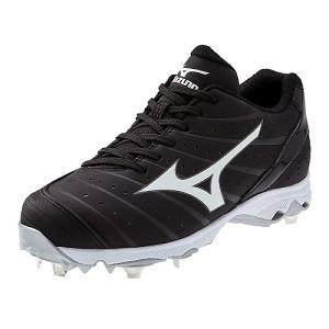 Mizuno 9-Spike Advanced Sweep 2 Fastpitch Cleat - Black/W...