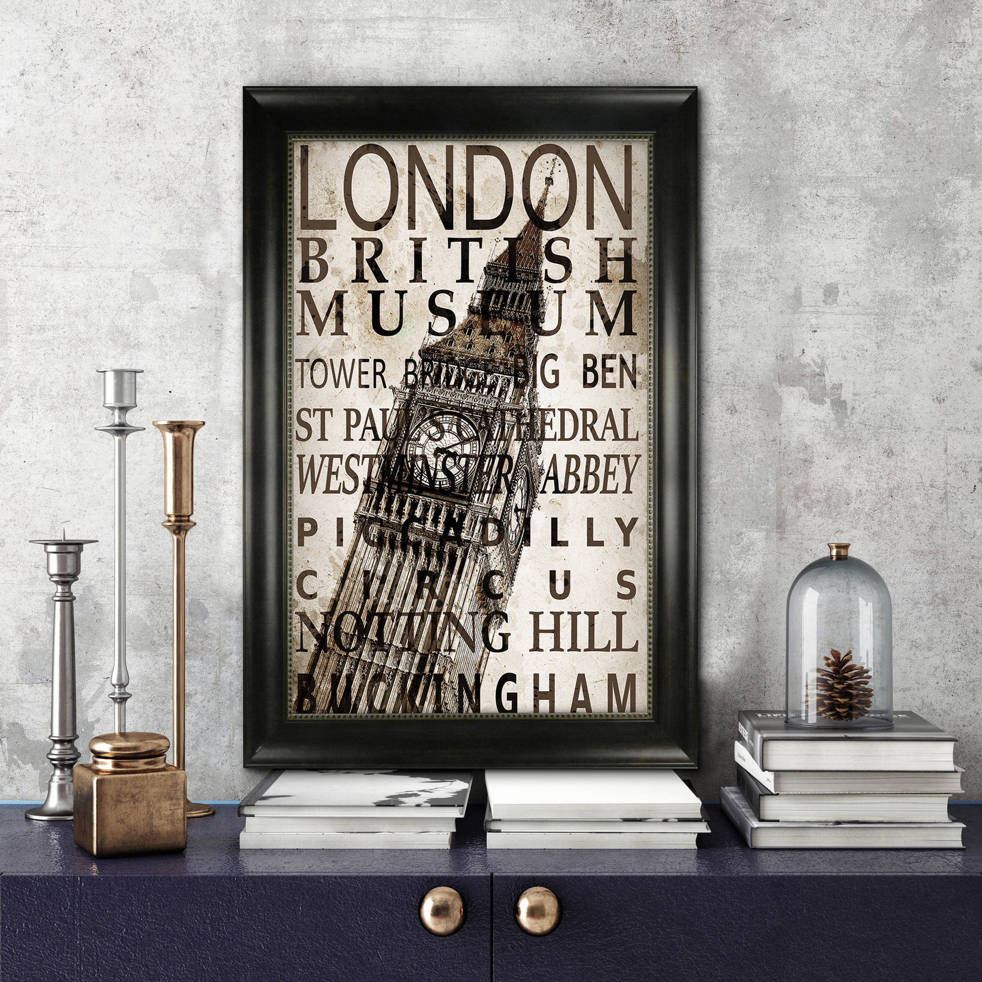 "Better Homes and Gardens Bronze Monteclair Poster Frame, 18"" x 24"" (45.72 cm x 60.96 cm)"