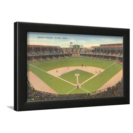 Briggs Stadium, Detroit, Michigan Framed Print Wall Art