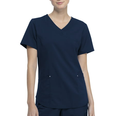 Scrubstar Women's Fashion Premium Ultimate Mock Wrap Scrub Top