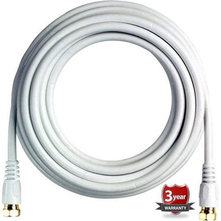 Boostwaves  White 18-foot Rg6 High Definition Low Loss HDTV Satellite Coaxial -