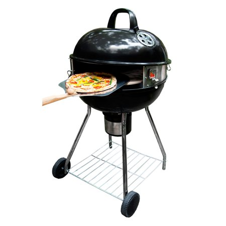Pizzacraft Pizzaque Deluxe Kettle Grill Pizza Oven Conversion Kit For 18 And 22 5 Grills Turn Your Bbq Into A Pc7001