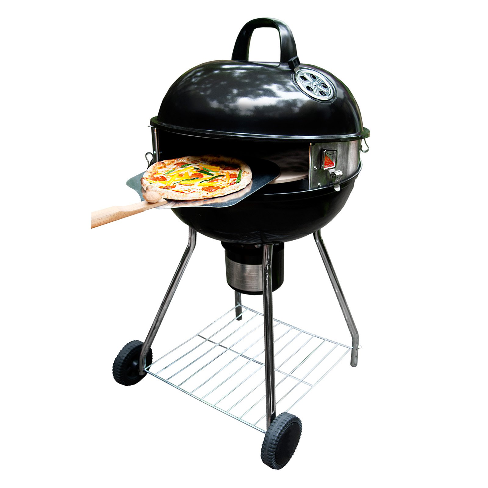 "Pizzacraft PizzaQue Deluxe Kettle Grill Pizza Oven Conversion Kit for 18"" and 22.5"" Kettle Grills, turn your BBQ into a Pizza oven! PC7001"