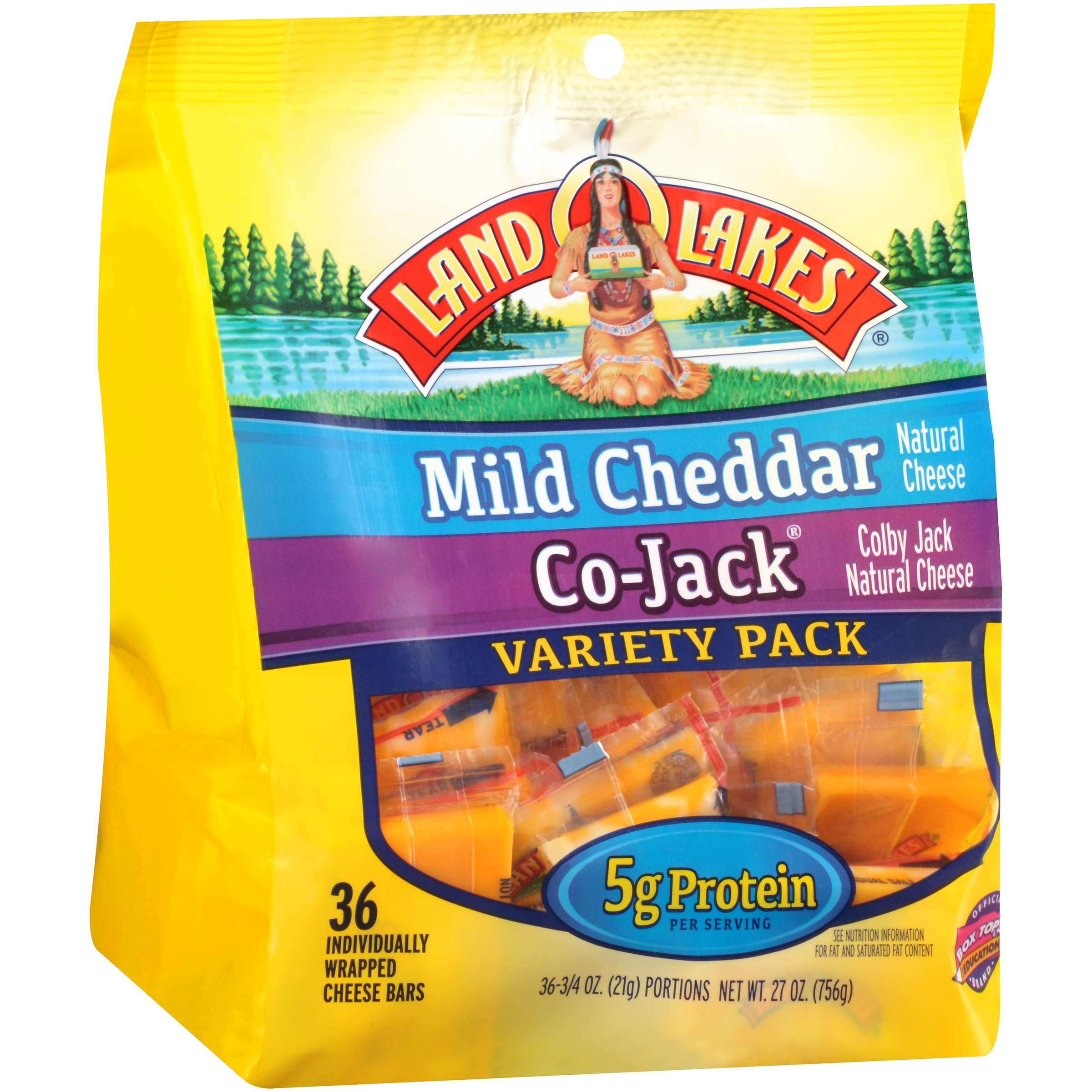 LAND O LAKES® Co-Jack® Colby Jack/Mild Cheddar Natural Cheese Bars, 36-0.75 oz. Portions