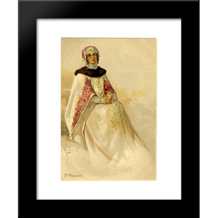 Red cross 20x24 framed art print by sergey solomko for Home decor 80121