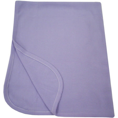 TL Care 100% Natural Cotton Swaddle/Thermal Blanket, Lavender, Soft Breathable, for Girls (Thermal Receiving Blanket Purple)